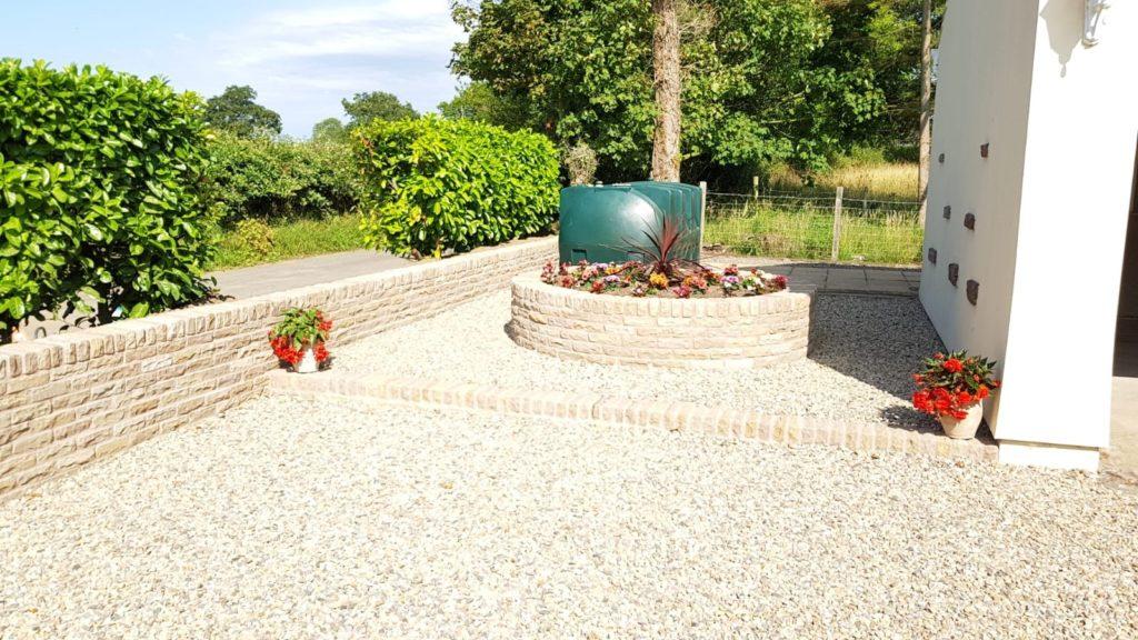 Circular stone planter