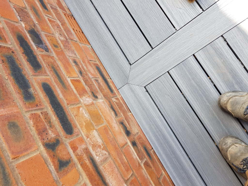 mitred corner on picture framed deck in Carlisle