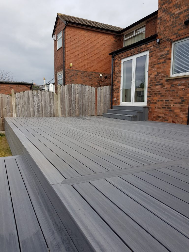 Composite decking in Carlisle with strong lines