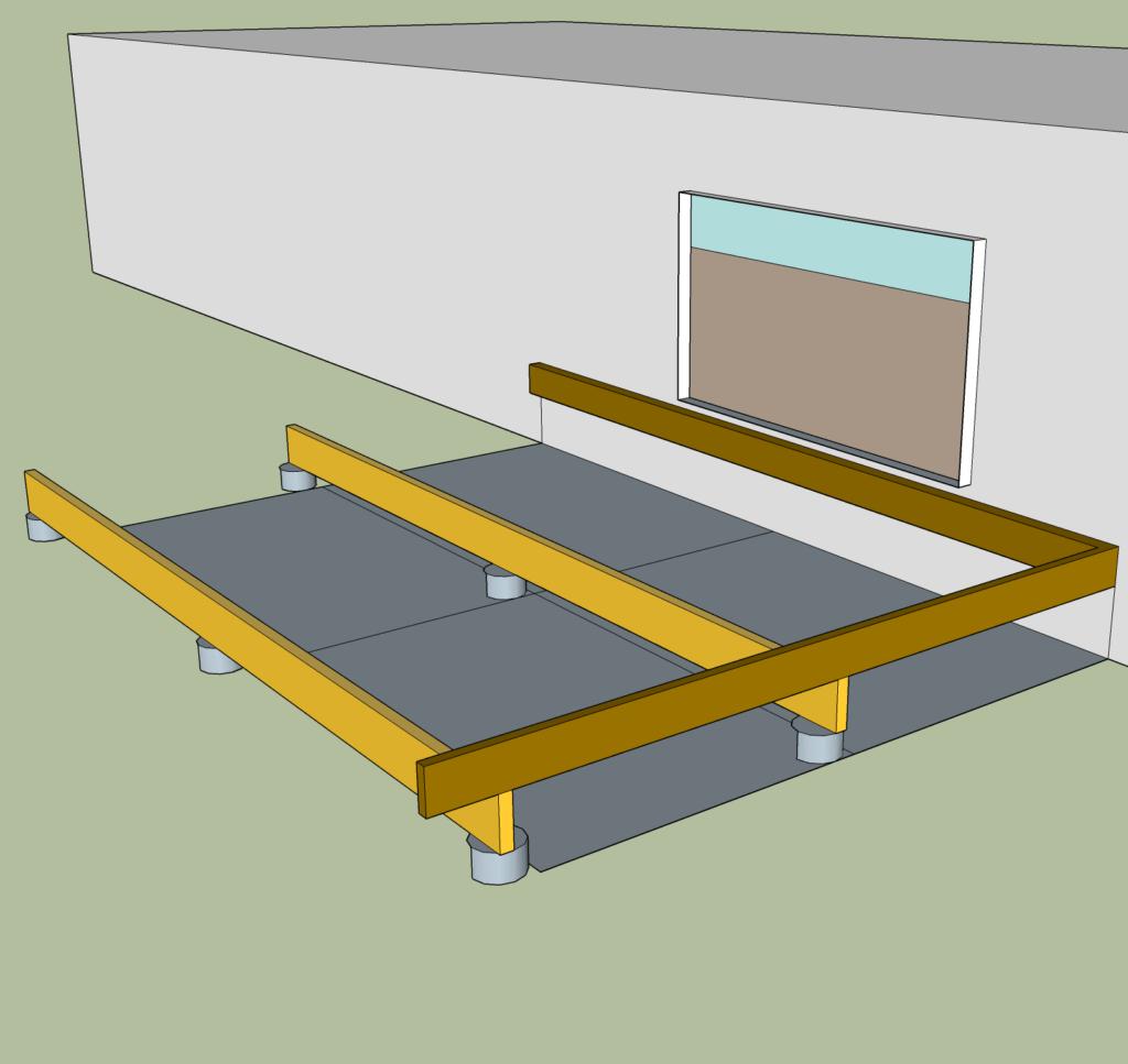 decking subframe detail
