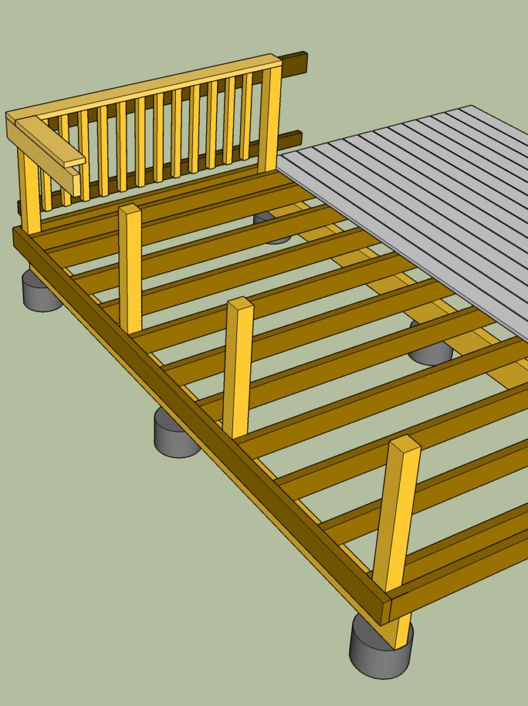 diagram of deck frame