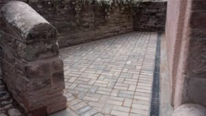 block paving and walling