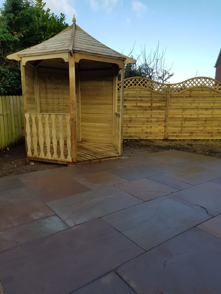 Stone Patio and Gazebo Wetheral