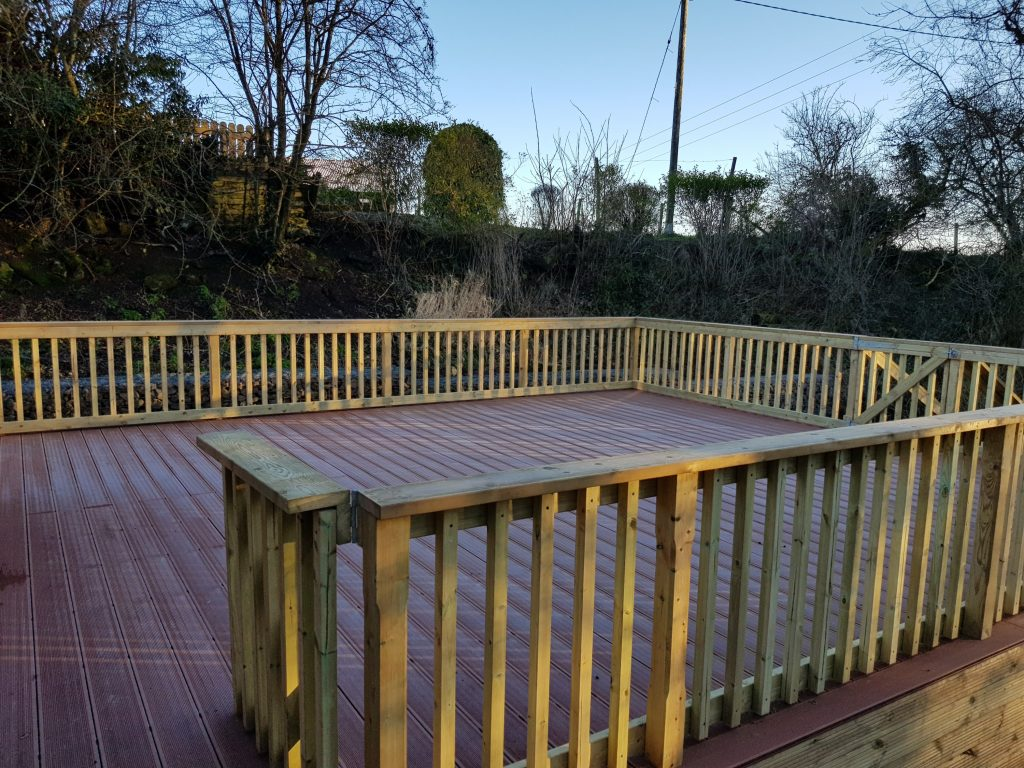deck boards and handrail