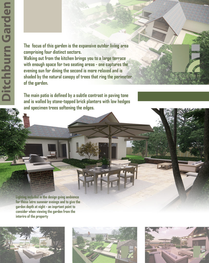 Artboard showing garden design for project in Carlisle, Cumbria.