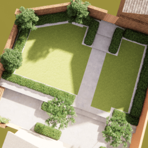 plan view of garden design